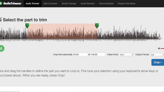 Online Mp3 Cutter – Audio Trimmer – For Mobile/PC